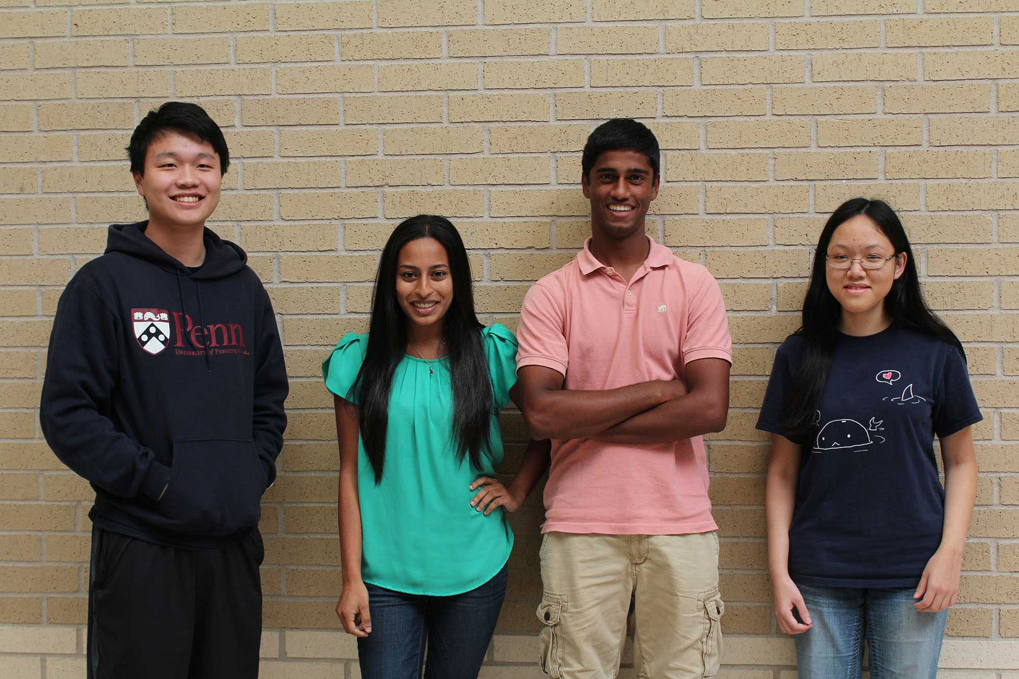 From left to right: David Zhou, Roshni Thachil, Ravichand Ramireddy, and Jane He. Not pictured: Randa Foote.