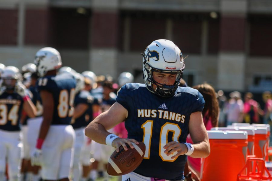 Mustang Football Wins in Dominant Performance Against Woods, Bryan Vikings up Next