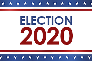 USA blank election design template on blue rays background. Hires JPEG (5000 x 5000 pixels) and EPS10 file included.